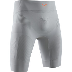 X-Bionic Twyce G2 Hardloop Shorts Heren, dolomite grey/sunset orange